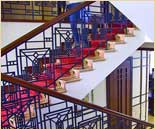 Лестницы. Натуральные, изысканные сорта дерева. Частный интерьер. (фотогалерея компании «Русский Двор»)